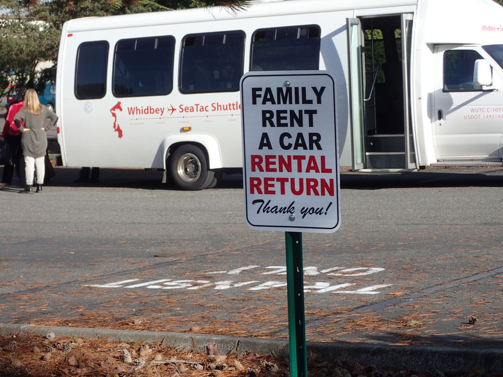 Whidbey Island Family Rent a Car dropoff location